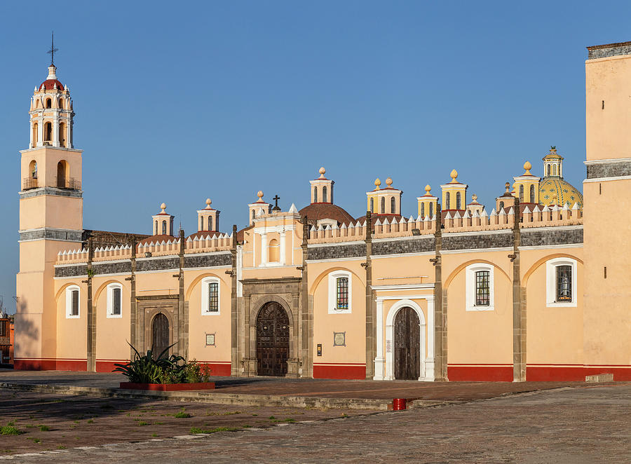 Visit Mexico Photograph - Panoramic Photo Of Iconic Mexican Chapel (capilla Real) In Cholula by Cavan Images