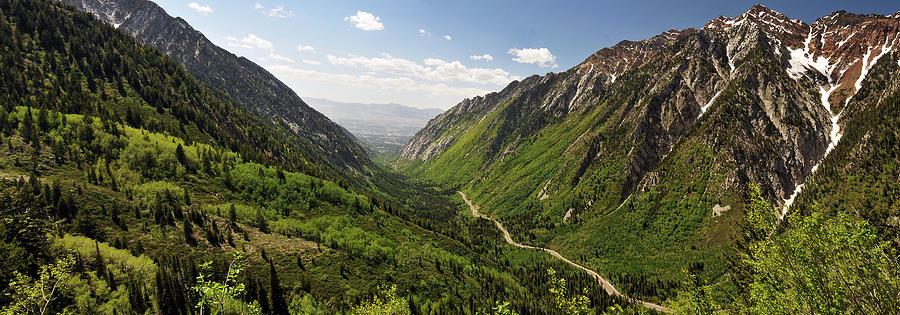 Panoramic Shot Of Little Cottonwood Photograph by Utah-based Photographer Ryan Houston