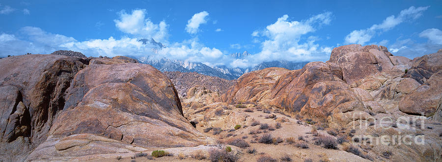 panoramic storm clouds alabama hills eastern sierras california by Dave Welling