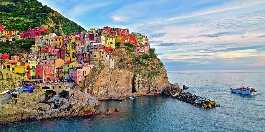Panoramic View At The Ligurian Sea Photograph