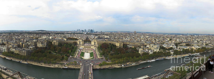 Panoramic view from the Eiffel Tower by Steven Spak