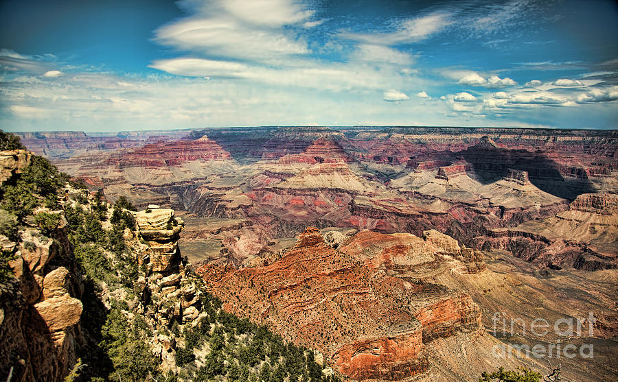 Panoramic View Grand Canyon  by Chuck Kuhn