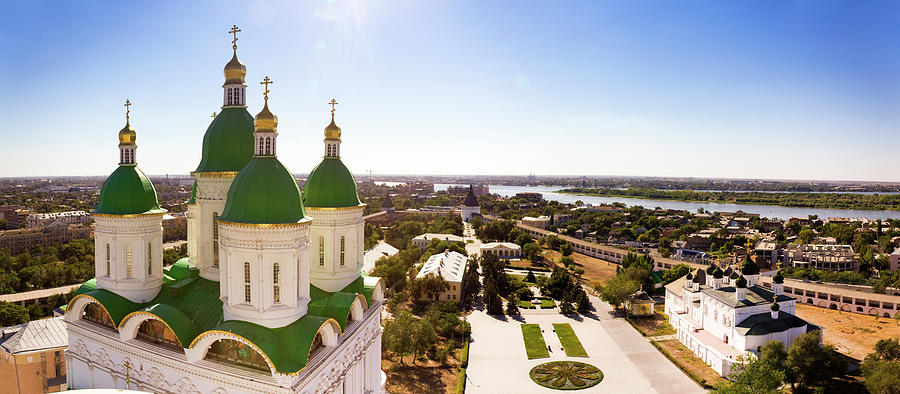 Panoramic View Of Astrakhan City, Russia Photograph by Mordolff