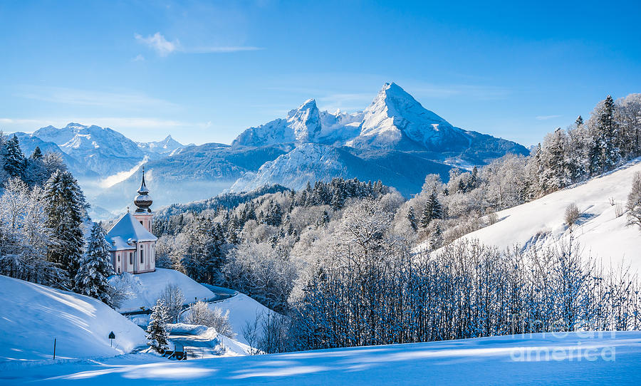 German Photograph - Panoramic View Of Beautiful Winter by Canadastock