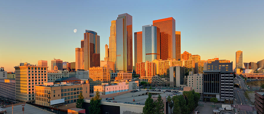 Panoramic View Of Downtown Los Angeles Photograph by Chrisp0