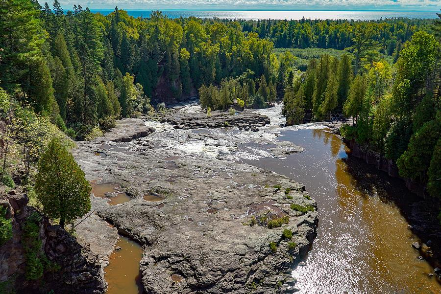 Panoramic View of Gooseberry Falls by Susan Rydberg