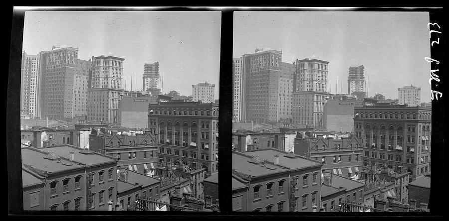 Panoramic View Of Hanover Square Photograph by The New York Historical Society