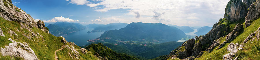 Panoramic View Of Lago Di Como And Photograph by Mmac72