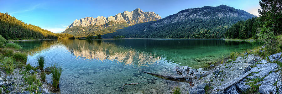 Panoramic View Of Lake Eibsee In The Bavarian Alps Photograph By Uwe Gruen