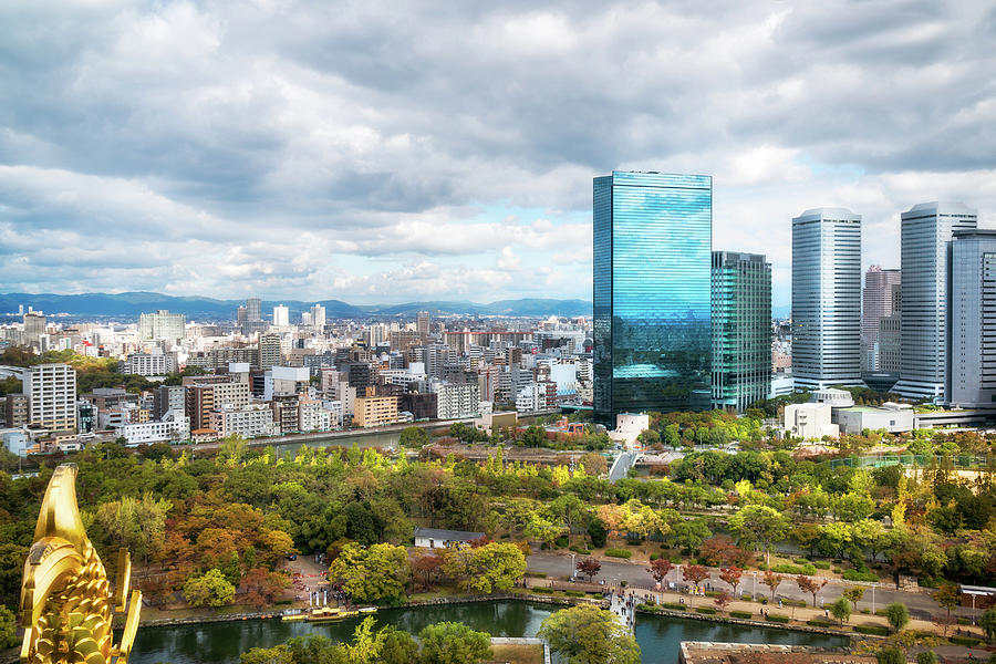 Panoramic view of Osaka business district from the rooftop of Os by Daniela Constantinescu