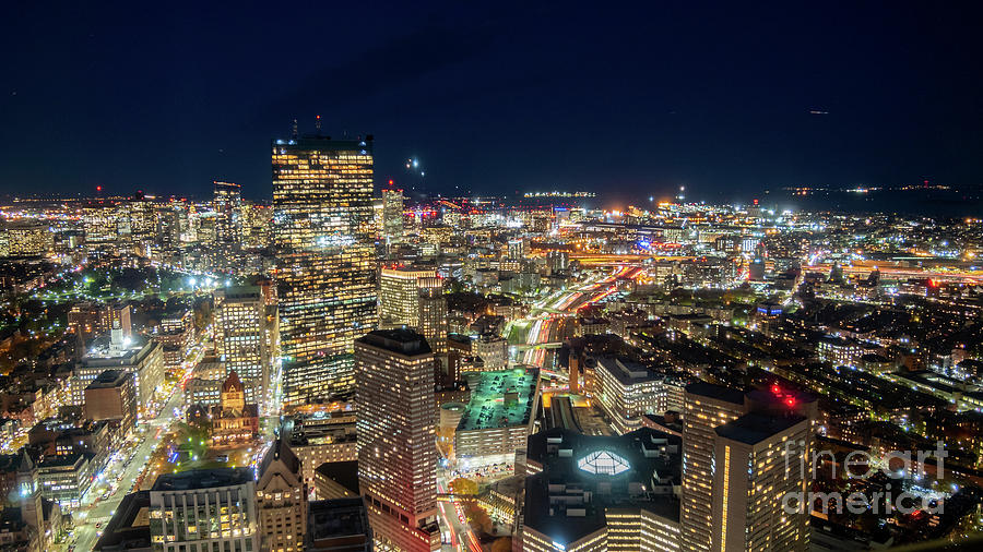 Panoramic View of the Boston Night Life by PorqueNo Studios