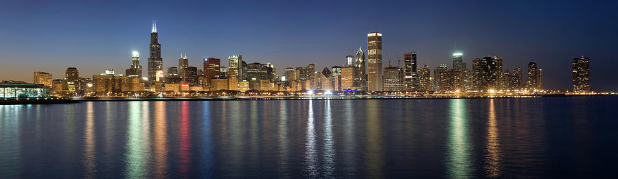 Panoramic View Of The Chicago Skyline Photograph by Chrisp0