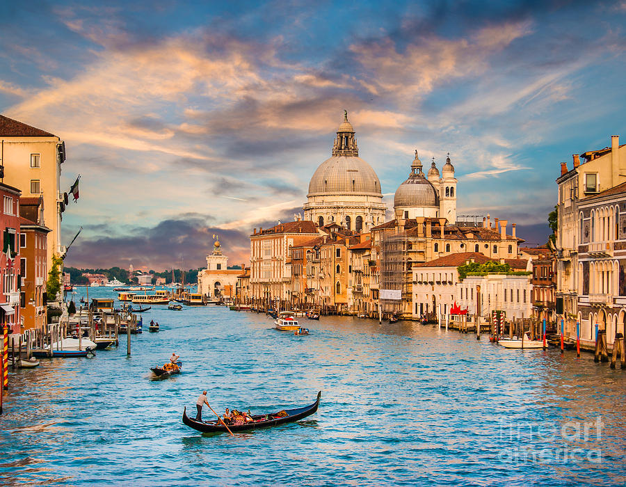 Di Photograph - Panoramic View Of Traditional Gondola by Canadastock