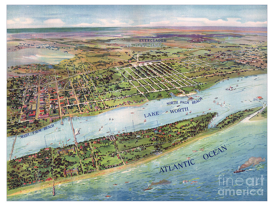 Panoramic view of West Palm Beach by Unknown