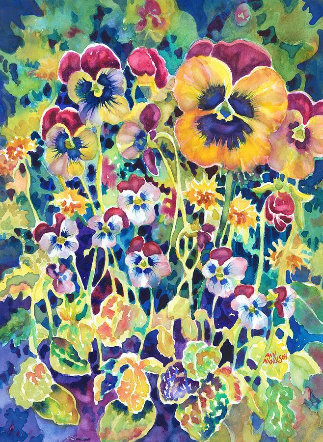 Pansies and Violas by Ann Nicholson