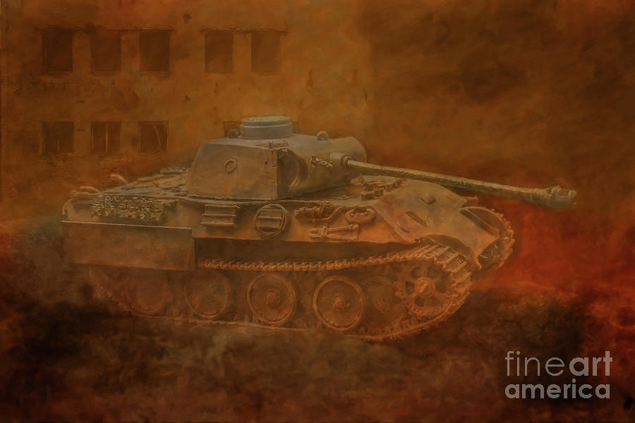 Panther Tank on the Prowl  by Randy Steele