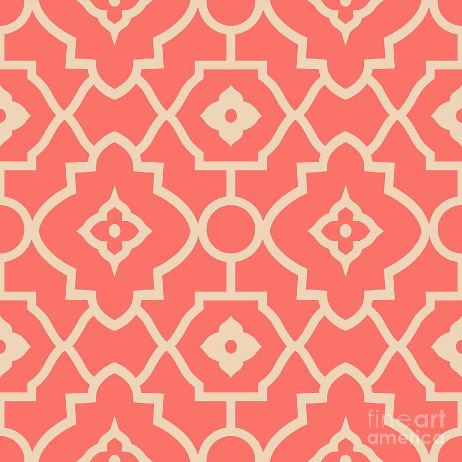 Summer Pyrography - Pantone Pattern by Mark Ashkenazi