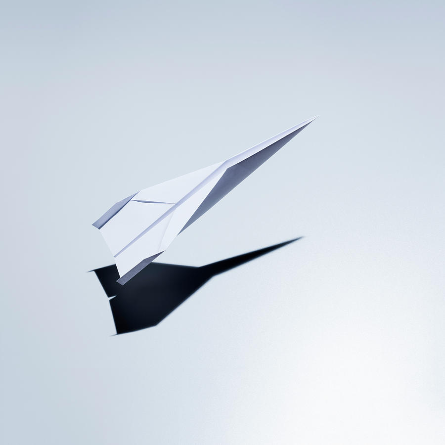 Paper Plane Taking Off Photograph by Jorg Greuel