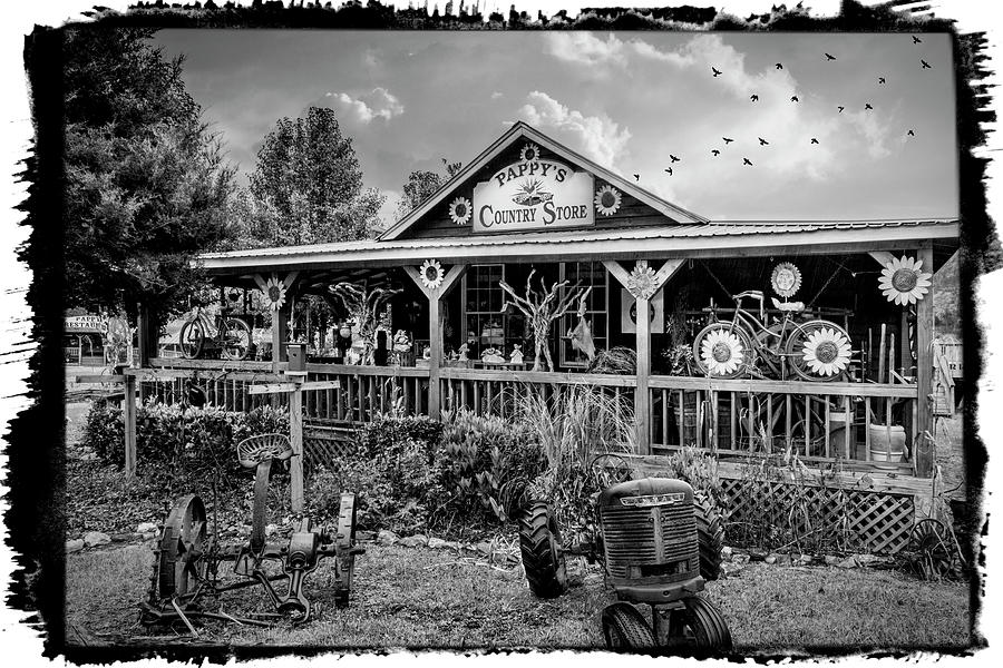 Pappy's Country Store Black and White Bordered by Debra and Dave Vanderlaan