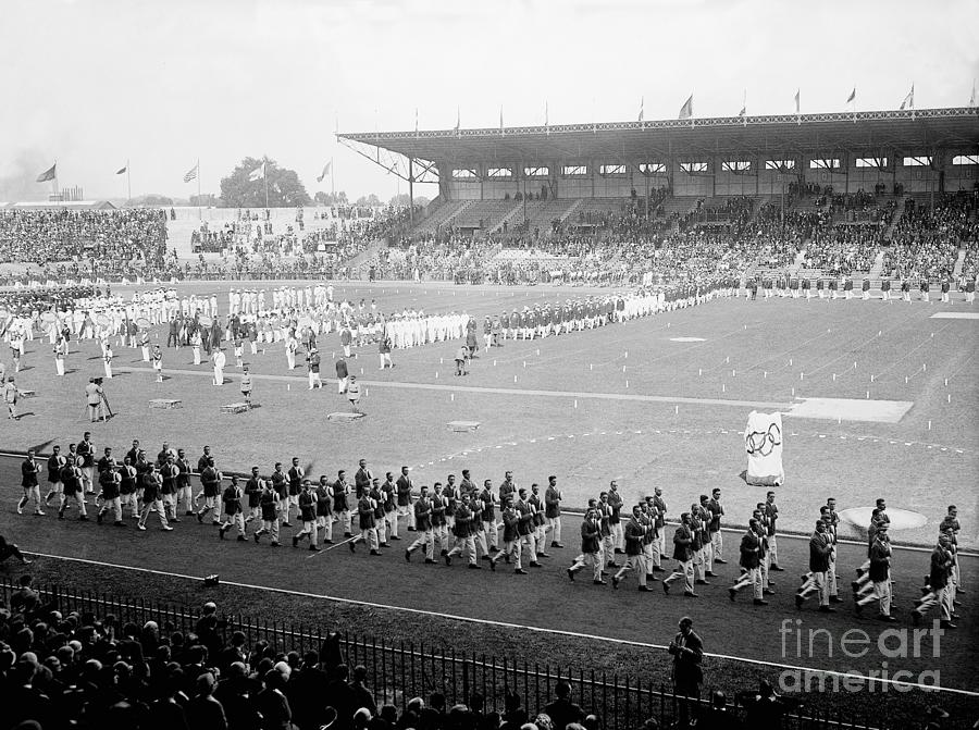 Parade Opening Olympic Games Photograph by Bettmann