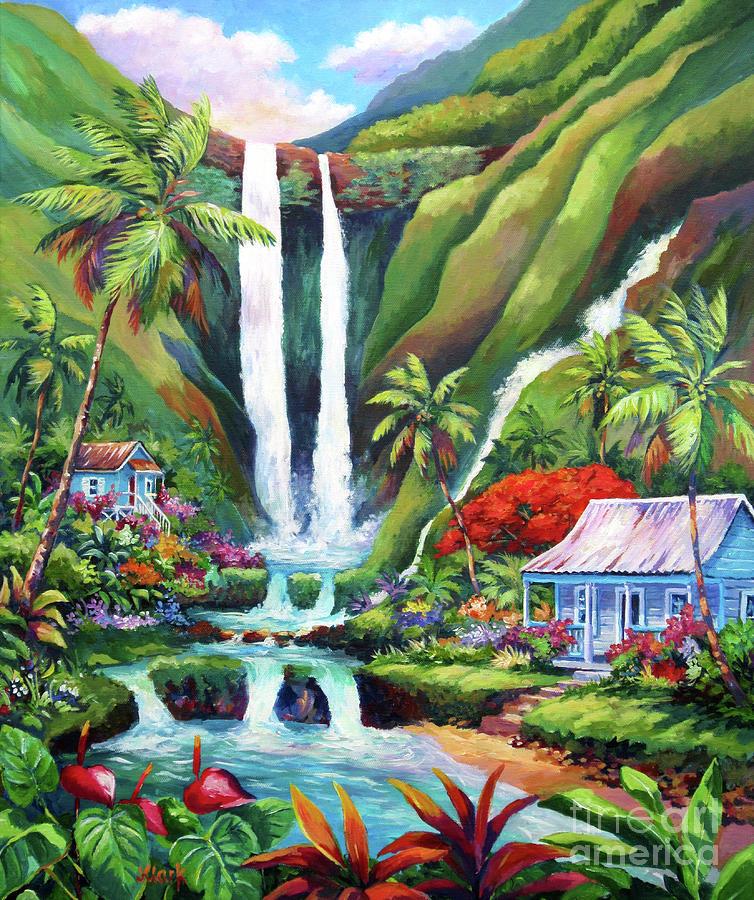 Waterfall Painting - Paradise Falls by John Clark
