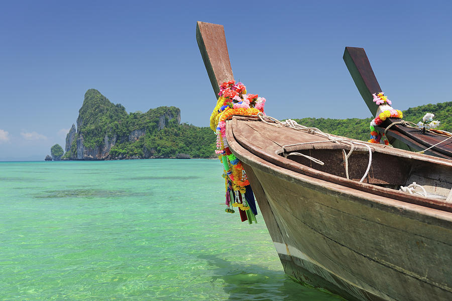 Paradise Tropical Beach With Longtail Photograph by 4fr