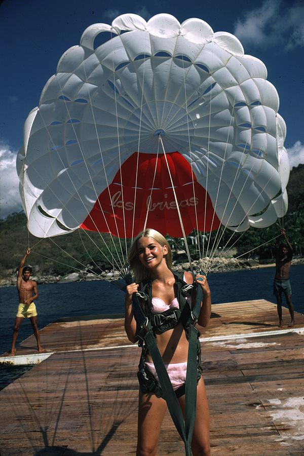 Paraglider Photograph by Slim Aarons