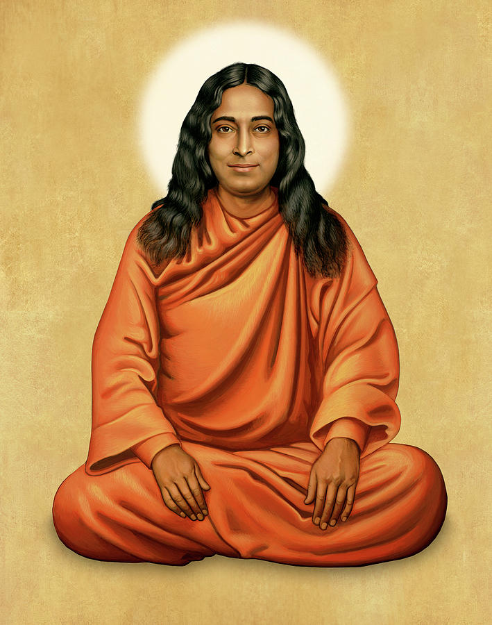 Paramhansa Yogananda on Gold by Sacred Visions
