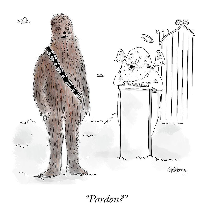 Pardon? Drawing by Avi Steinberg