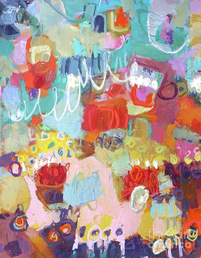Abstract Painting Painting - Pardon Me by Elizabeth Chapman