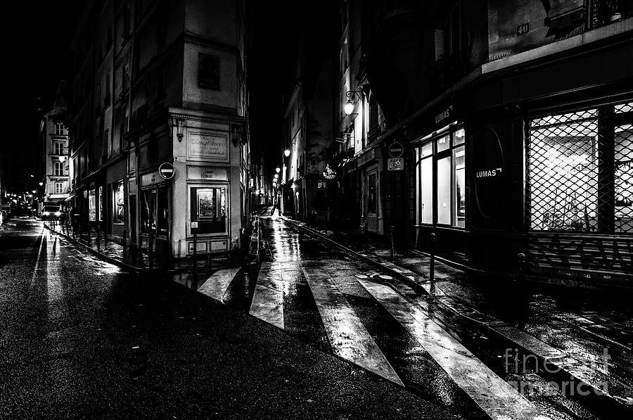 Paris at Night - Rue de Seine by Miles Whittingham