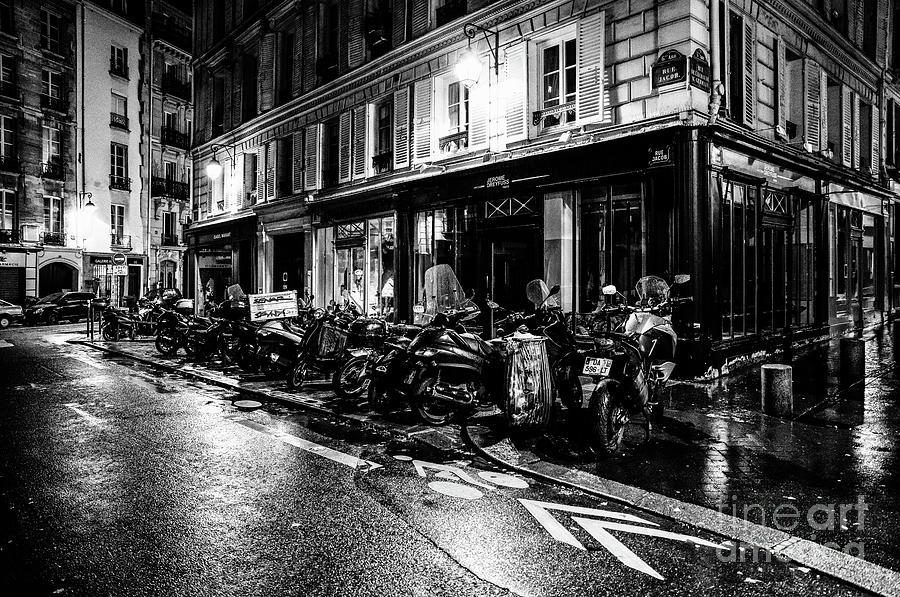 Paris at Night - Rue Jacob by Miles Whittingham