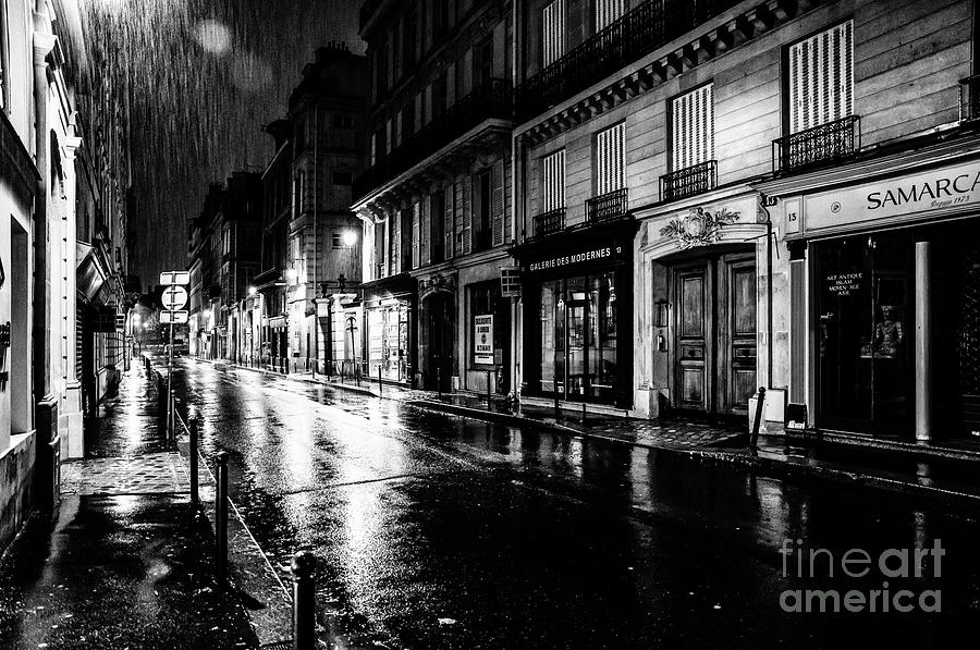 Paris at Night - Rue Saints Peres by Miles Whittingham