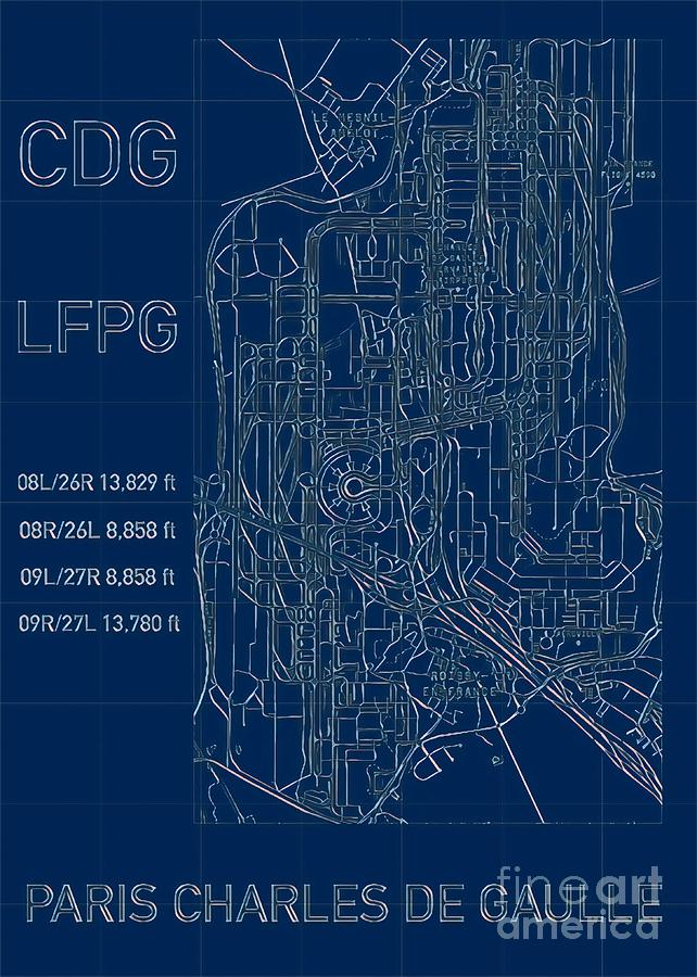 Paris CDG Airport Blueprint by HELGE
