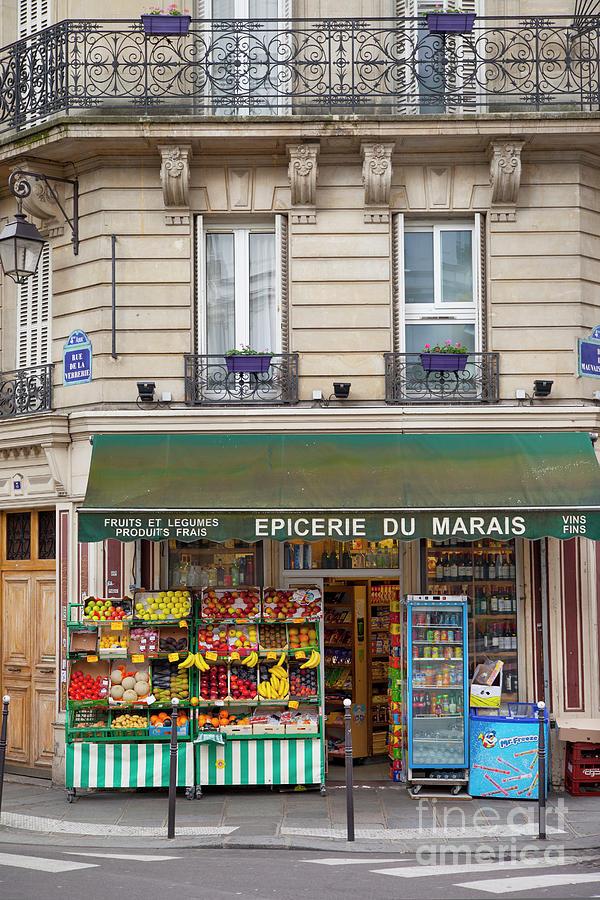 Paris Corner Grocery by Brian Jannsen
