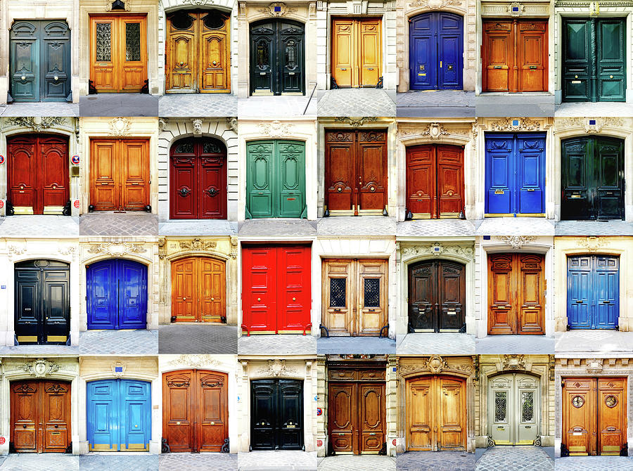 Paris Doors Photograph by Maica