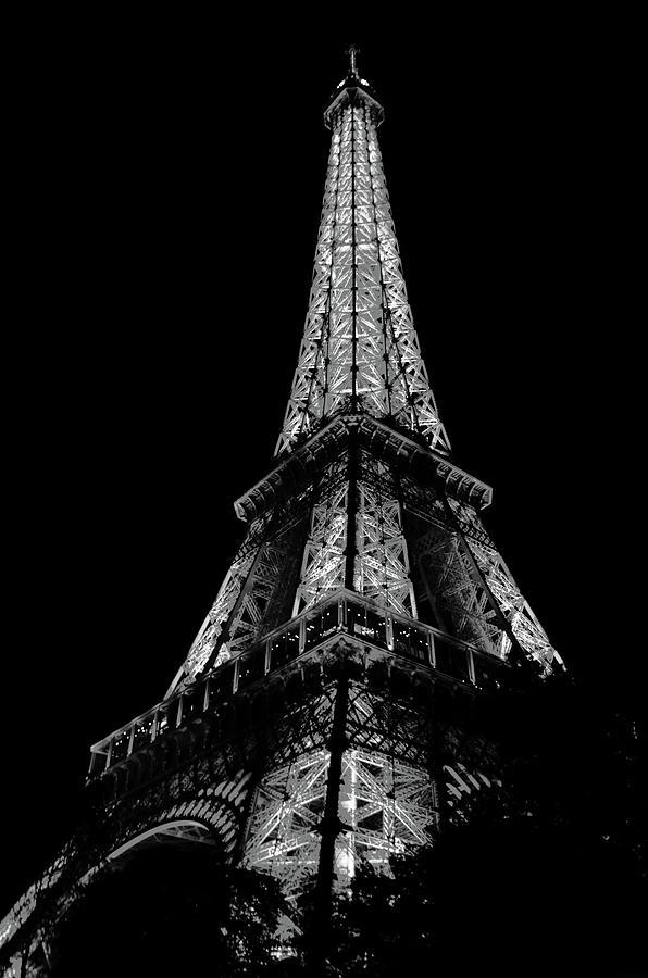 Paris Eiffel Tower 6 Black White Photograph By Del Art