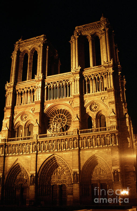 Notre Dame cathedral Paris, France April  1978 Photo by Pat Hathaway by California Views Archives Mr Pat Hathaway Archives