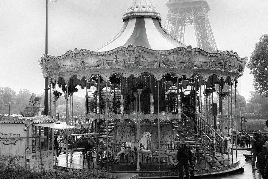 Paris Monochrome Carousel by Georgia Fowler