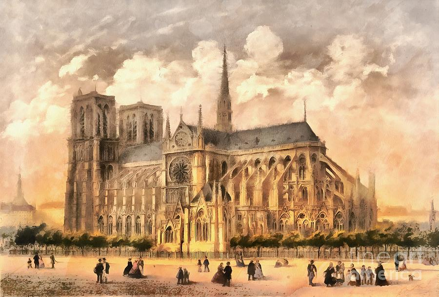 Paris Photograph - Paris Notre Dame Cathedral France by Edward Fielding