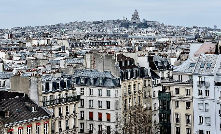 Paris Photograph - Paris Rooftops by Brent Jones