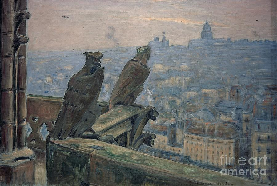 Paris seen from the towers of Notre-Dame by Etienne Moreau-Nelaton
