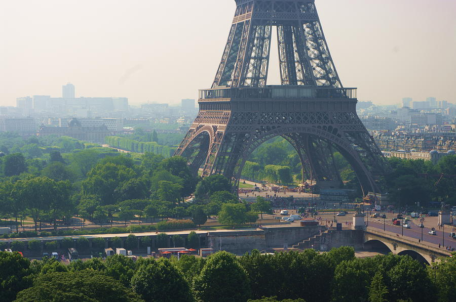 Paris Tour Eiffel 301 Pollution Photograph by Pascal Poggi