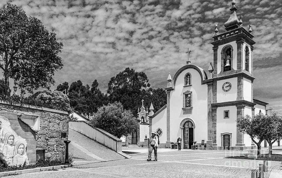 Parish church, Portugal BW  by Barry Bohn
