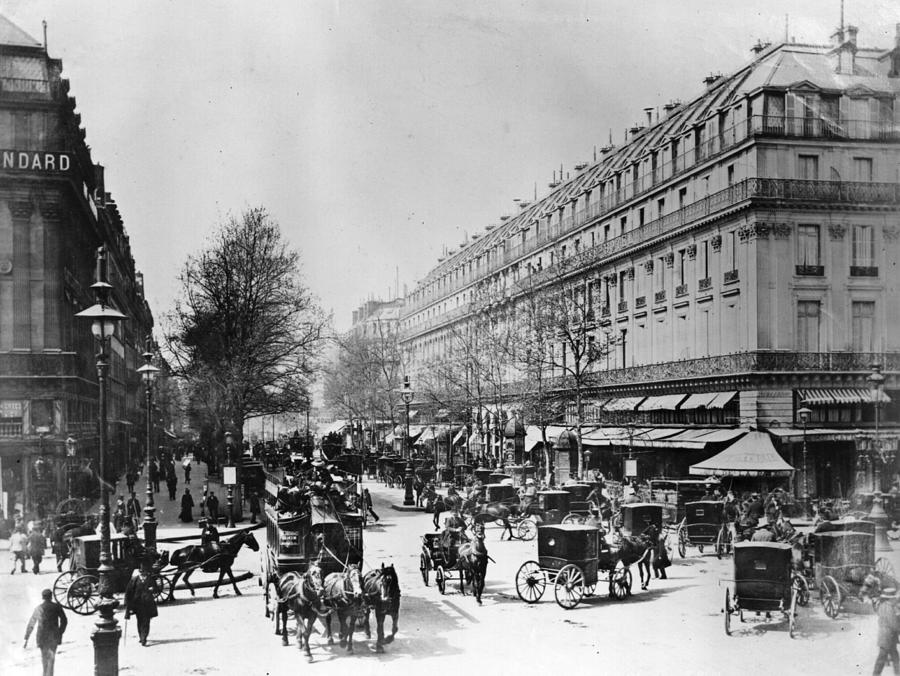 Parisian Boulevard Photograph by Hulton Archive