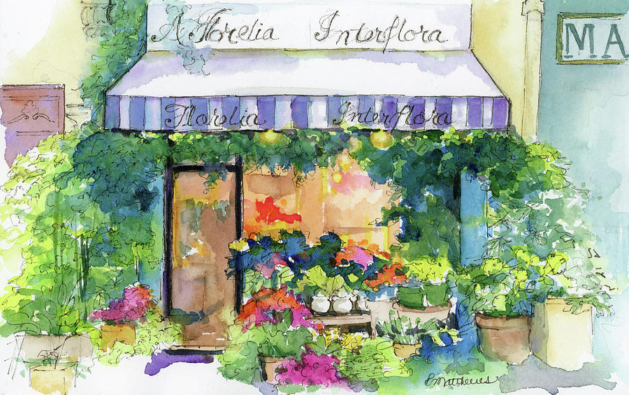 Parisian Flower Shop by Rebecca Matthews