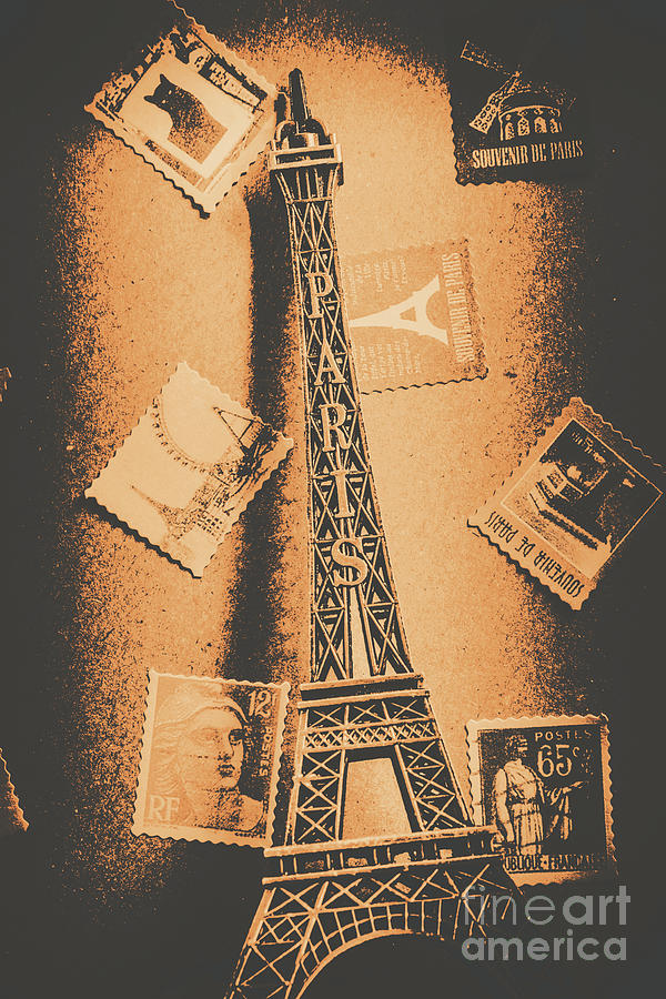 Postcard Photograph - Parisian Post Facade  by Jorgo Photography - Wall Art Gallery