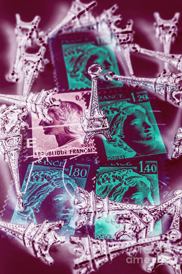 Mail Photograph - Parisian Postmarks by Jorgo Photography - Wall Art Gallery