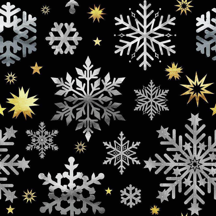 Christmas Pattern Digital Art - Park Avenue Snowflake Pattern by Tina Lavoie