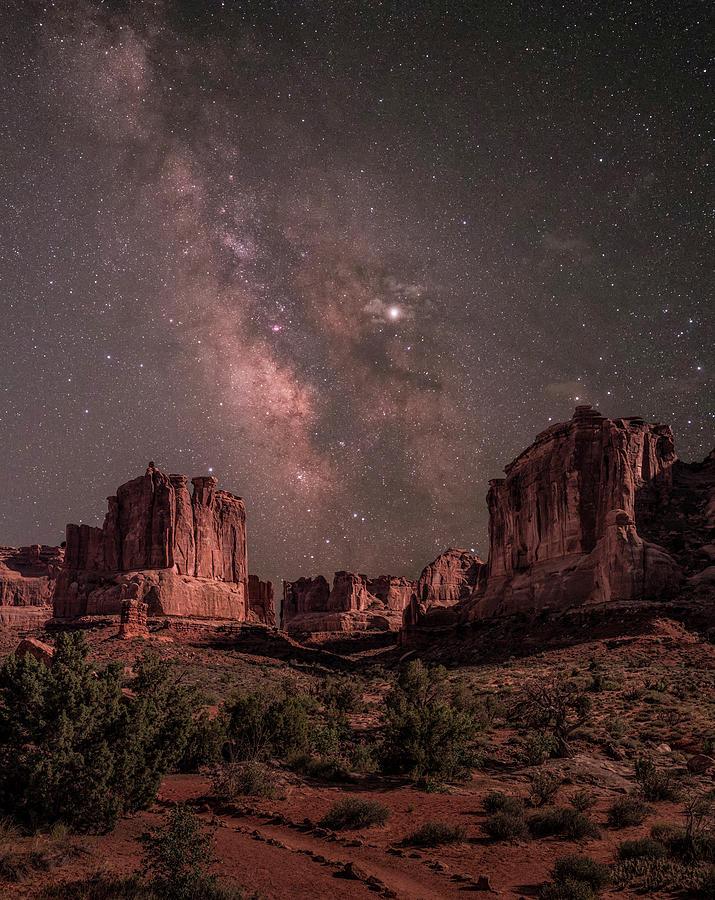 Park Place Under Milky Way by Hal Mitzenmacher